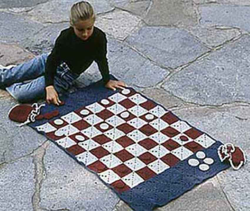 Checker Game Afghan