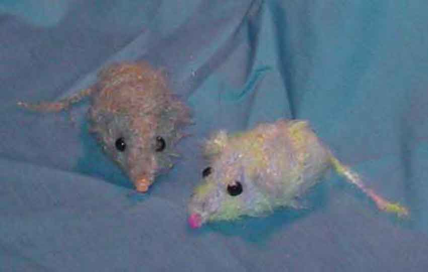 Pink & Grey/Yellow Confetti Catnip Mice
