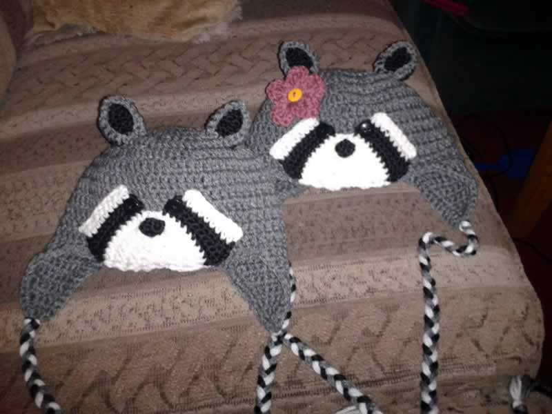 Raccoon Ear Flap Hats